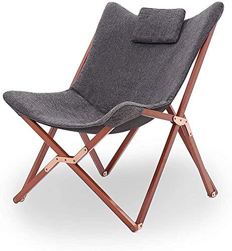 Plegables sillas de jardín cómoda terraza acampar al aire libre de playa plegable portátil sillón reclinable sofá sillón reclinable salón reclinable relajado relaje oscuro gris perez,Dark gray