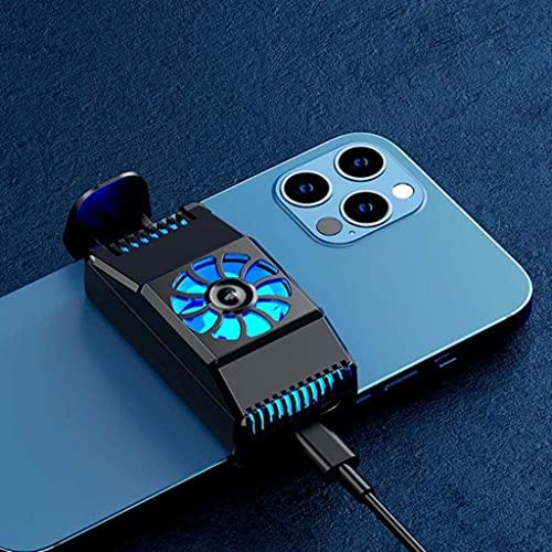 GPWDSN Soporte para Enfriador de teléfono Radiador para teléfono móvil Refrigeración para teléfono móvil Ventilador silencioso Semiconductor Universal Radiador de refrigeración (Negro)