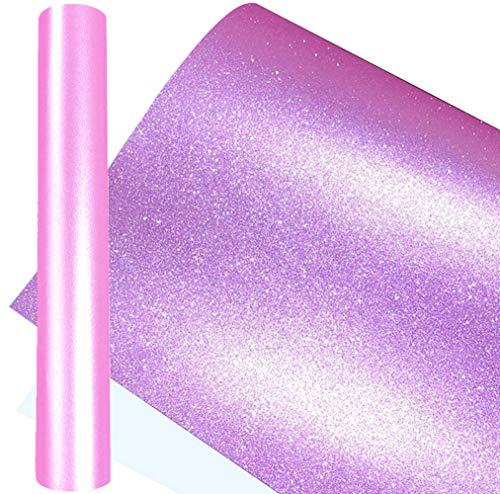 WDragon Rollo de lámina de vinilo adhesivo permanente para manualidades, de esmerilado, de 30 cm por 152 cm (rosa)