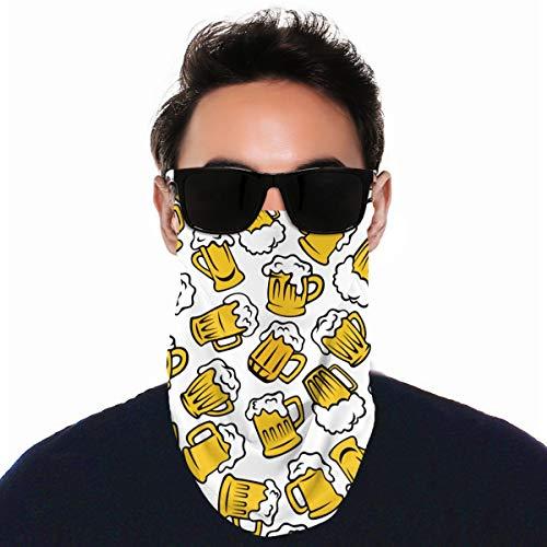 nonebrand Cartoon Bierglas Unisex Outdoor Ohr Typ Windschutzscheibe Gesicht Schal winddicht Staub multifunktional Kopfbedeckung Schutz, Schwarz , Einheitsgröße