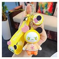 キーチェーン 漫画人形かわいいキーチェーンのアクセサリーのためのキーリングのためのキーリングカーバッグの財布チャームフィギュアキーチェーンキッズギフト (Color : Chocolate baby key)