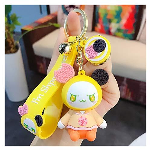 Hjdmcwd Keychain Kawaii Cartoon Doll Cute Keychain Accessories Keyring For Girls Car Bag Purse Charm Figure Key Chain Kids Gift (Farbe : Chocolate baby key)