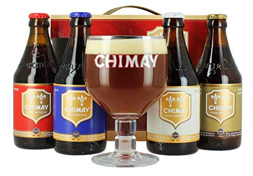 4 Bottiglie di Birra Chimay con Bicchiere in Omaggio