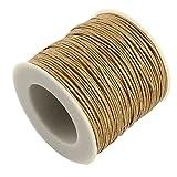 L'attrape-rêve - Cordoncino in cotone cerato, spessore: 1mm, colore: tortora, lunghezza: 5metri