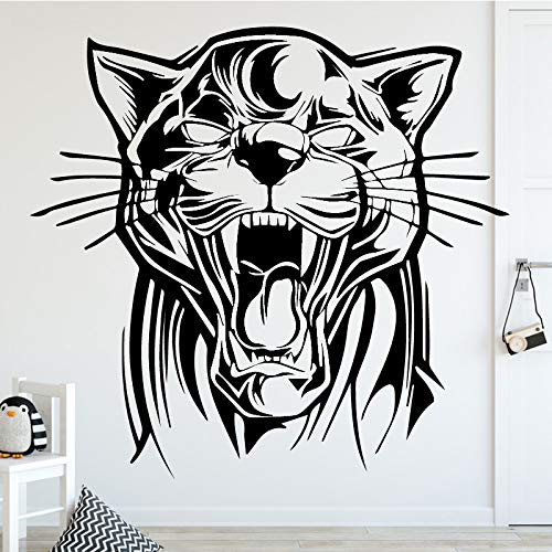 YIYEBAOFU Roaring Tiger Wall Art Decal Sticker de Pared Decoración para el hogar Accesorios Habitación Infantil Vinilo Impermeable Etiqueta87x81cm