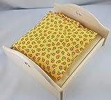 Rülke Holzspielzeug 22619 Puppenhauszubehör, holzfarben, gelb, braun