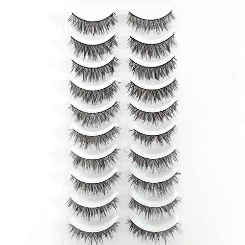 Lurrose 50 faux cils long Natural Hand Mascara girl faux cils Madame