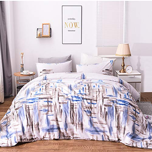 Duvet cover and pillowcase bedding quilt cover single double room king-size bed-Lanyan