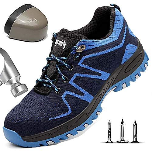 Heren lichtgewicht S3 veiligheidsschoenen werkschoenen sportieve veiligheidsschoenen met stalen neus luchtdoorlatend sneaker anti-smashing hiking schoenen