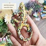 JIAKUAN 3D Español República Dominicana turismo conmemorativo lagarto Gecko imanes nevera etiqueta engomada para la decoración del hogar