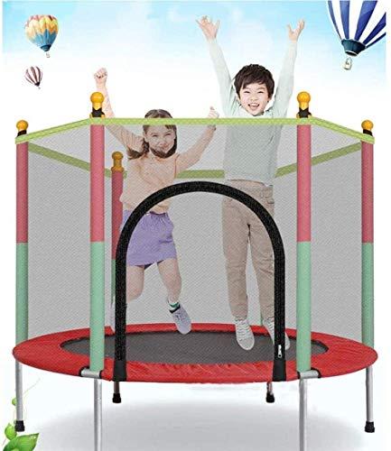Trampoline voor kinderen Trampoline met veermat Antislip Waterdicht Duurzaam Binnen Buiten Trampoline Maximale veiligheidsbelasting 200 kg 140X122x88cm (upgrade)