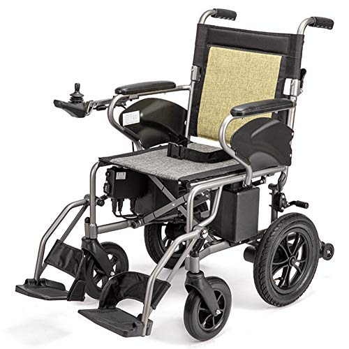 Silla De Ruedas Eléctrica Plegable Inteligente Ligera Aluminio Power Chair,silla Eléctrica Para Ancianos Discapacitados Adultos,coche Anciano Compacto Asiento 41cm,peso Máximo Soportado 100kg