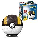RAVENSBURGER PUZZLE-Ravensburger 11266 – Puzzle 3D – Bola Pokéball – [EN] Ultra Ball – 54 Piezas – para Fans de Pokémon a Partir de 6 años, Color Blanco