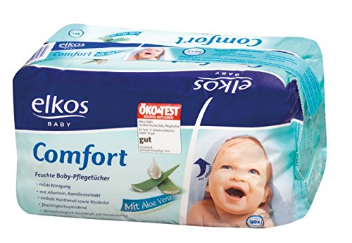 Elkos Baby 2x80 Comfort Feuchte Baby-Pflegetücher