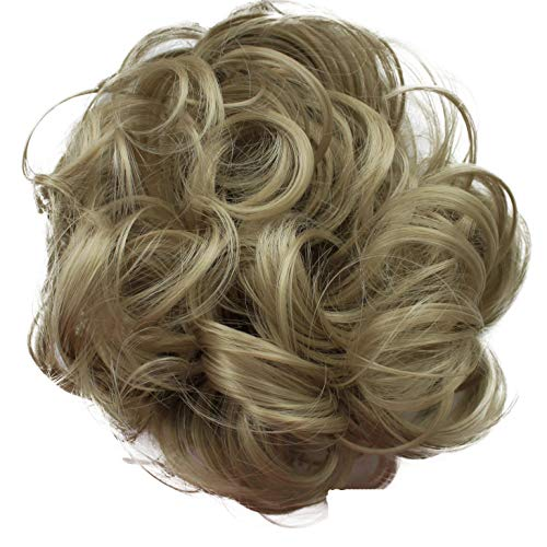 PRETTYSHOP Haarteil Haargummi Hochsteckfrisuren Brautfrisuren Voluminös Gelockt Unordentlich Dutt Dunkelblond G19A