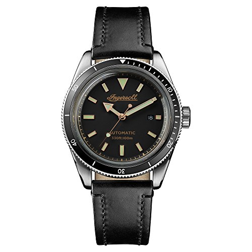 Ingersoll Herren Datum klassisch Automatik Uhr mit Leder Armband I05006