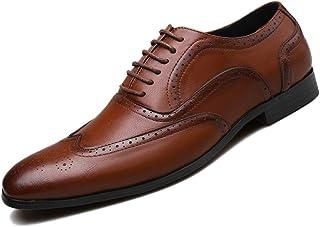 Rojeam Zapatos Formales para Hombre Zapatos con Cordones Brogues para Trabajo de Oficina Comercial