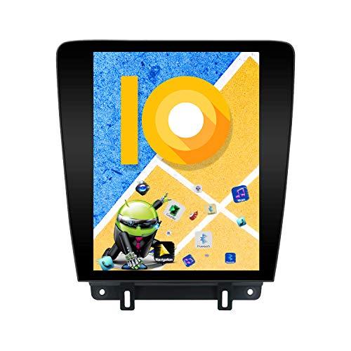 ZWNAV Pantalla Vertical de 12.1 Pulgadas Android 9.0 One DIN Auto Stereo Navi Bluetooth Navegación GPS para Ford Mustang 2010-2014 Adaptador Unidad Principal WiFi Carplay(4 + 64 GB)