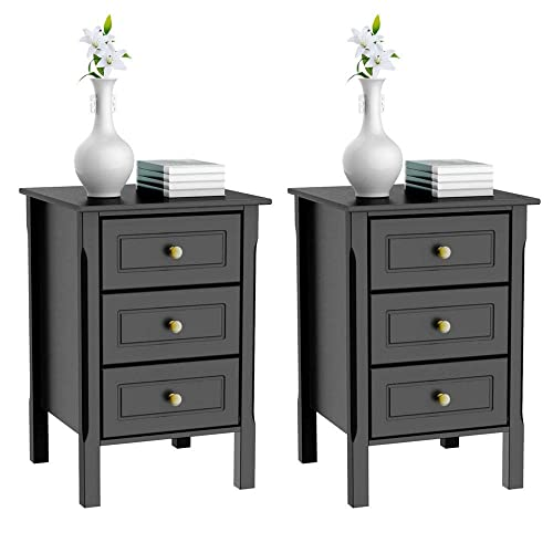 Rosecliff Heights Albrecht Extra Tall 3 Drawer Nightstand