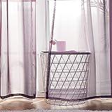 MIULEE 2 Pizasas Cortinas Poliéster Ojales Cortina Translucida de Dormitorio Moderno Ventana Visillos Salon para Sala Cuarto Dormitorio Comedor Salon Cocina Salón 140 x 215 cm Púrpura