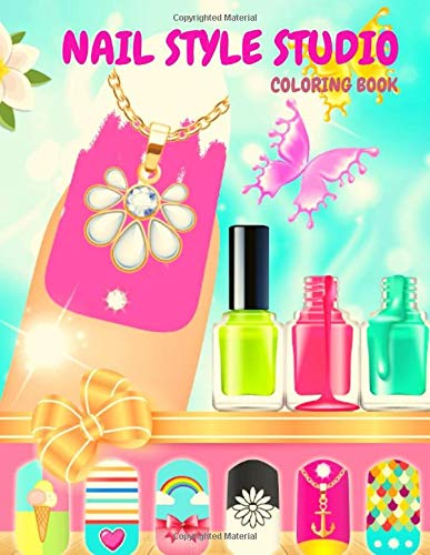 Nail Style Studio: Coloring Book