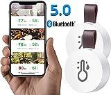 Bluetooth Thermomètre Hygromètre Numérique ESHOWEE Thermomètre Intérieur sans FiI,surveillance à distance de température wifi humidité iOS Android Mini Thermomètre D'intérieur pour Maison Bureau 2 Pcs