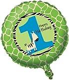 zebra birthday balloon