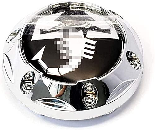 4 Piezas Tapas Centrales para Fiat 500 Punto Bravo Stilo Panda Abarth 500, 64 mm, Coche Llanta Rueda Cubre Embellecedor Insignia, Emblema Logo Accesorios
