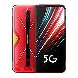 Nubia Red Magic 5G Gaming Teléfono móvil Android 10 Snapdragon 865 5G 6.65 '' AMOLED Turbo Fan 64MP Huella Digital 4500mAh NFC HDMI (Rojo, 8+128G)