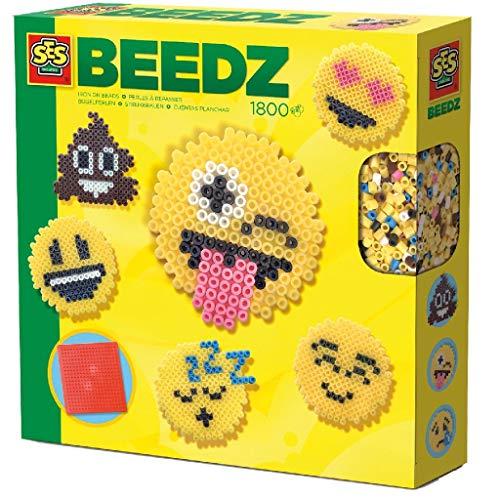 SES 62316 6231 Beedz: Bügelperlen Emoticons Creative 06231-Beedz, Spiel, Keine