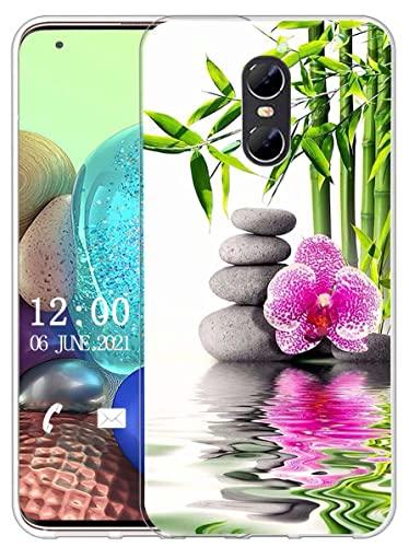 Sunrive Kompatibel mit Ulefone Gemini Hülle Silikon, Transparent Handyhülle Schutzhülle Etui Hülle (X Blume)+Gratis Universal Eingabestift MEHRWEG