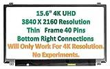Vtekscreen LP156UD1-SPB1 SPA2 SPC1 15.6' 4K Laptop eDP LCD LED UHD Screen
