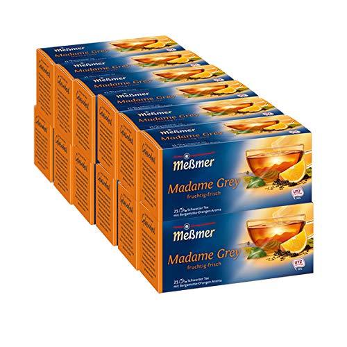 Messmer Madame Grey, Schwarzer Tee 25 Beutel, 12er Pack (12 x 44 g)