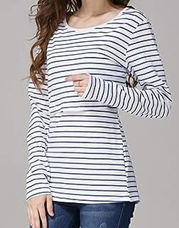 Elma & Me Striped Maternity Nursing top, Long Sleeve