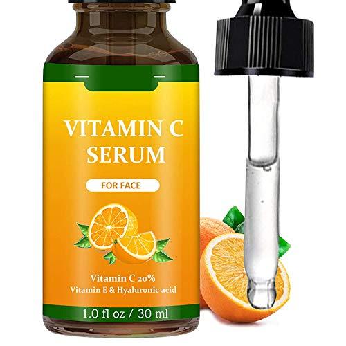 Vitamin C Serum, Vitamin C Serum for Face with Hyaluronic Acid, Anti Aging Face Moisturiser, Face Skin Serum Dark Spot Remover, 1 fl oz