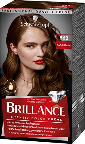 Brillance Intensiv-Color-Creme Haarfarbe 862 Naturbraun Stufe 3, 3er Pack(3 x 160 ml)