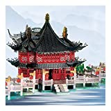 SHY Modèle en métal 3D, modèle en métal tridimensionnel 3D, bâtiment de Style Chinois 3D Pont Yuyuan Jiuqu Bricolage créatif