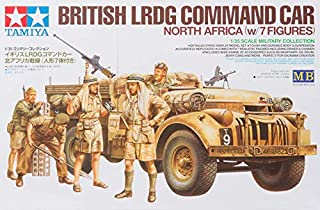 Tamiya 300032407 - 1:35 Scale British LRDG Command Car with 7 Figures