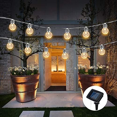 Clothful Solar Pineapple Light String Light Bulb Round Ball Light Outdoor Garden Light