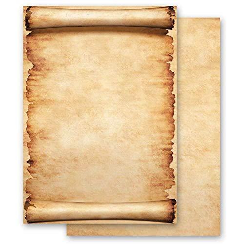 100 fogli di carta da lettera decorati Certificato PERGAMENA DIN A5 - Paper-Media