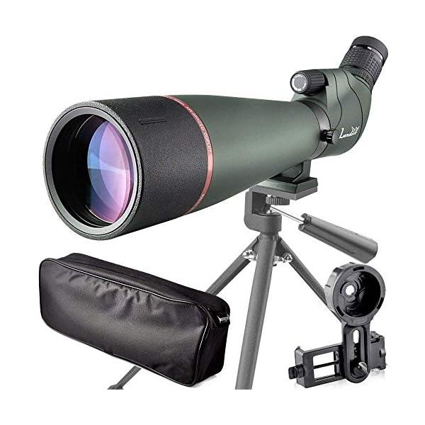 Landove Waterproof Spotting Scope- Prism Scope for Birdwatching Target Shooting Archery Outdoor Activities -with Tripod & Digiscoping Adapter-Get the Beauty into Screen