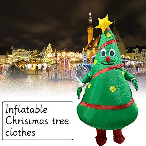 gaeruite Halloween Inflatables Kostüme, Weihnachtsbaum Aufblasbare Kleidung Weihnachten Kostüme Cosplay Requisiten für Weihnachtsdekor