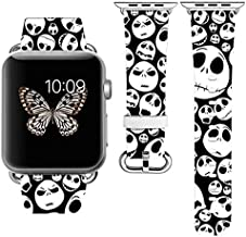 Replacement Band Strap Compatible with Apple Watch iWatch with adapters 42-44mm or 38-40mm iWatch Band Series 1 Series 2 Series 3 Series 4 Length S/M or M/L (38-40mm M/L)