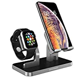 BENTOBEN Ladestation iPhone iWatch 2 in 1 iWatch iPhone Ständer Ladestation mit Kabelkanal Docking...