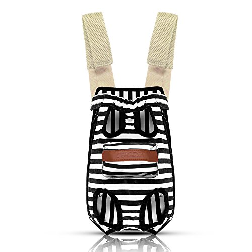COODIA Legs Out Front Pet Dog Carrier Front Chest Backpack Pet Cat Puppy Tote Holder Bag Sling Outdoor (XL, Color Black)