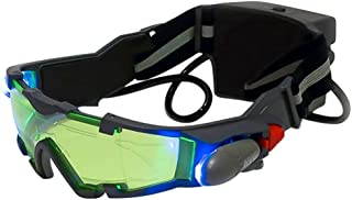 ALLOMN Spy Night Vision Goggles with Flip-Out, Adjustable Kids LED Night Green Lens Glasses for Hunting Racing Bicycling, ...