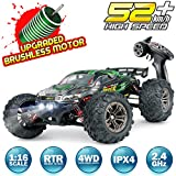 Hosim RC Car 1:16 Scale 2847 Brushless Remote Control RC Monster Truck , All Terrain 4WD High Speed 52KM/h Off-Road...