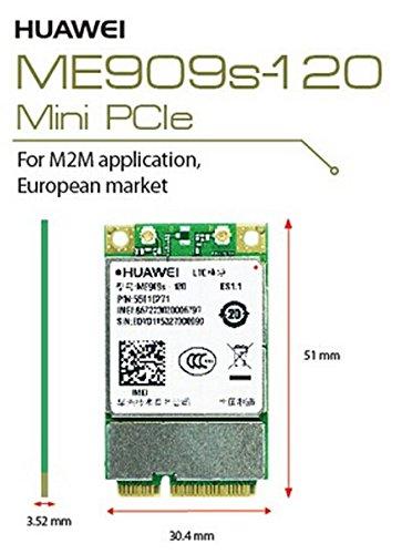 HSPA/UMTS/Edge/LTE 4G Mini-PCIe Modem (Huawei ME909s-120)