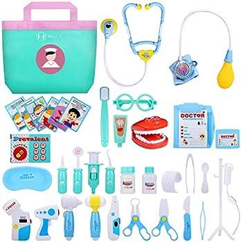 NextX 38-Pieces Educational Doctor Kit Play Set