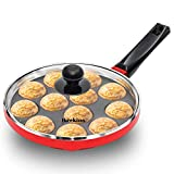 Hawkins Nonstick Appe Pan with Glass Lid, 12 Cups, Diameter 22 cm, Black (NAPE22G)